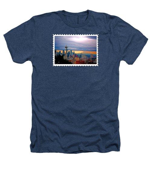 Seattle At Sunset Heathers T-Shirt