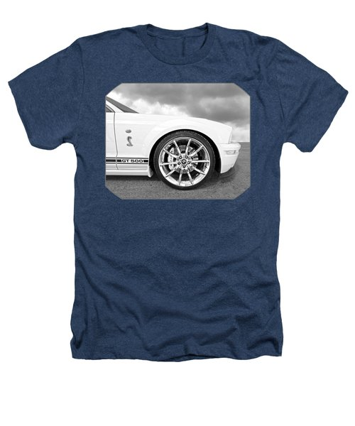 Shelby Gt500 Wheel Black And White Heathers T-Shirt by Gill Billington