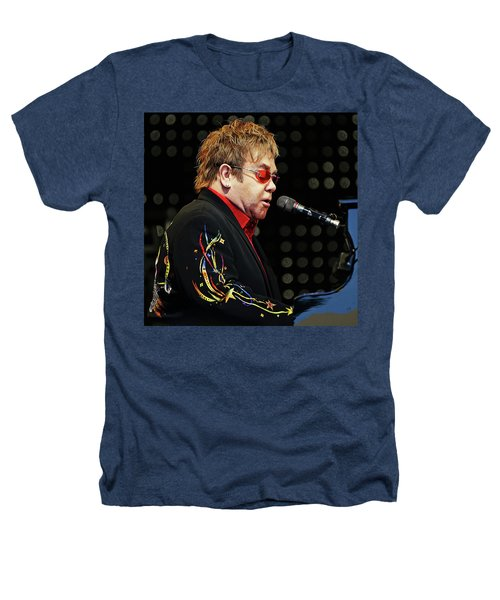 Sir Elton John At The Piano Heathers T-Shirt by Elaine Plesser