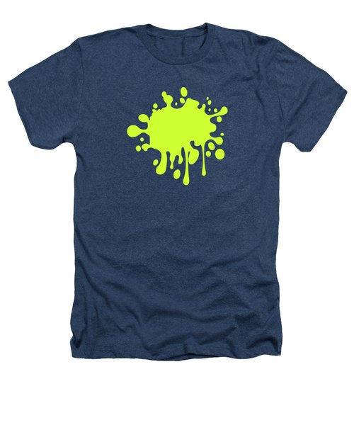 Solid Electric Lime Color Heathers T-Shirt by Garaga Designs