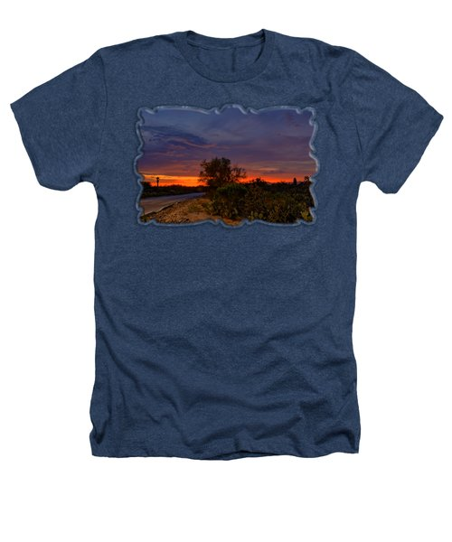 Sonoran Sunset H48 Heathers T-Shirt by Mark Myhaver