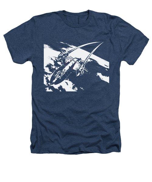 Sr-71 Flying High Heathers T-Shirt by Ewan Tallentire
