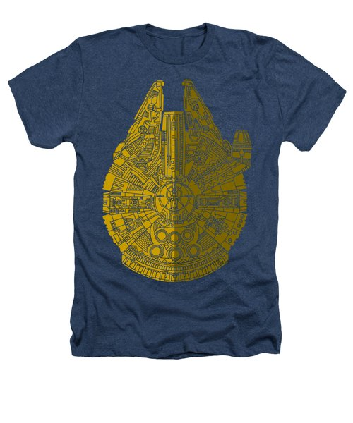 Star Wars Art - Millennium Falcon - Brown Heathers T-Shirt