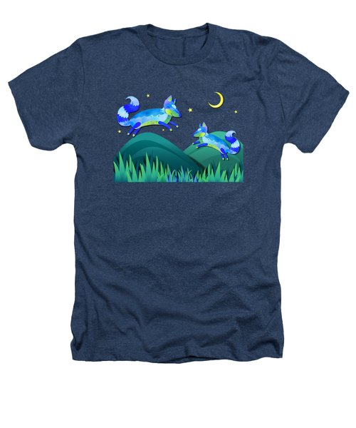 Starlit Foxes Heathers T-Shirt by Little Bunny Sunshine