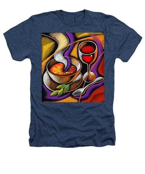 Steaming Supper Heathers T-Shirt by Leon Zernitsky