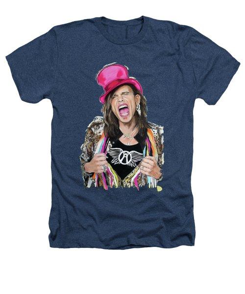 Steven Tyler 2 Heathers T-Shirt by Melanie D