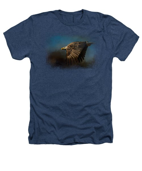 Storm Chaser - Bald Eagle Heathers T-Shirt by Jai Johnson