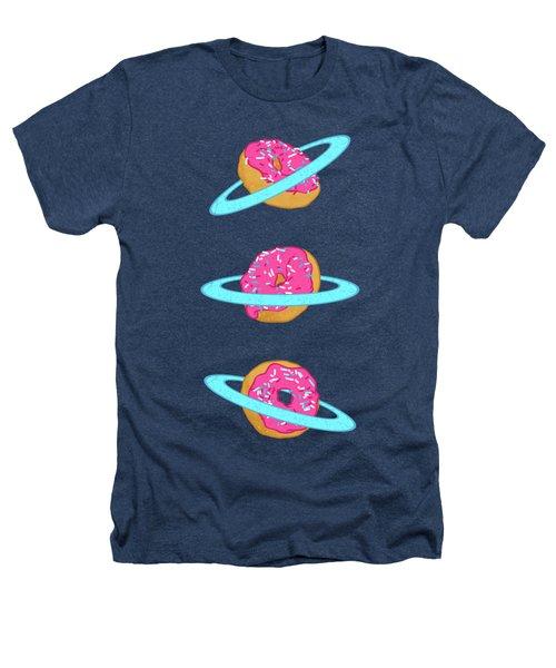Sugar Rings Of Saturn Heathers T-Shirt by Evgenia Chuvardina