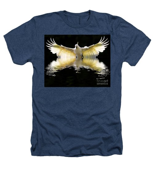 Sulphur Crested Cockatoo Rising Heathers T-Shirt