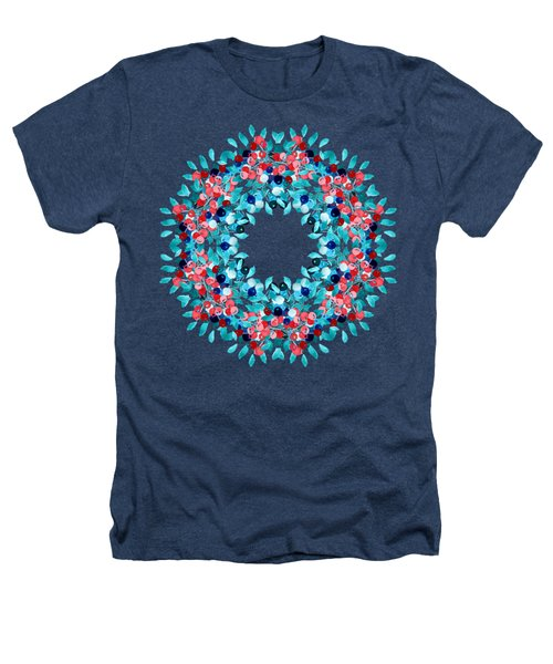 Summer Wreath Heathers T-Shirt by Mary Machare