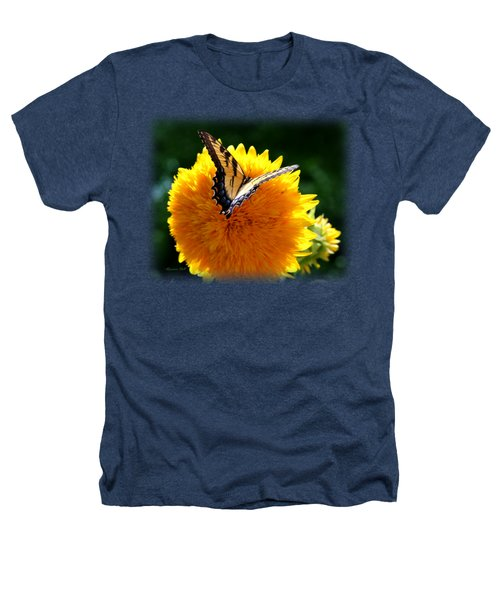 Swallowtail On Sunflower Heathers T-Shirt by Korrine Holt
