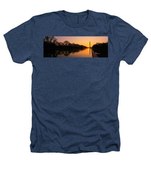 Sunset On The Washington Monument & Heathers T-Shirt by Panoramic Images