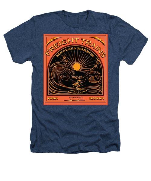 Surfer Freight Trains Maui Hawaii Heathers T-Shirt
