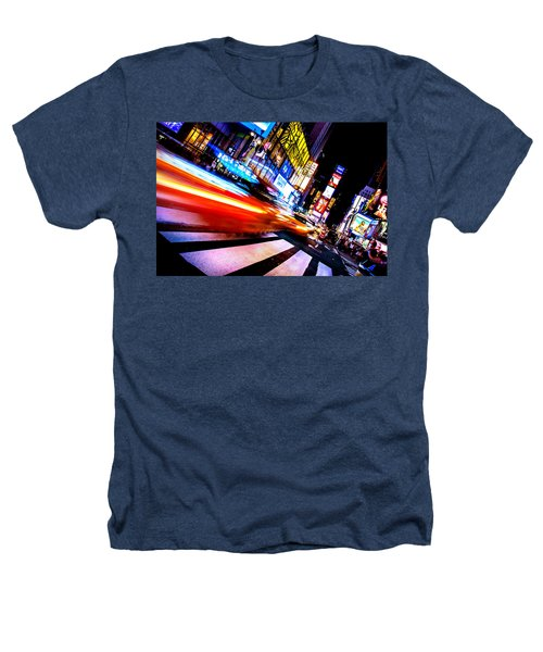 Taxis In Times Square Heathers T-Shirt by Az Jackson