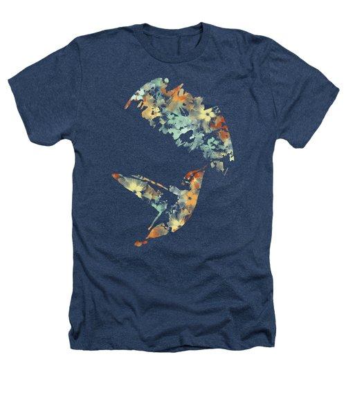 Floral Hummingbird Art Heathers T-Shirt