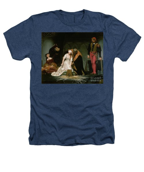 The Execution Of Lady Jane Grey Heathers T-Shirt by Hippolyte Delaroche