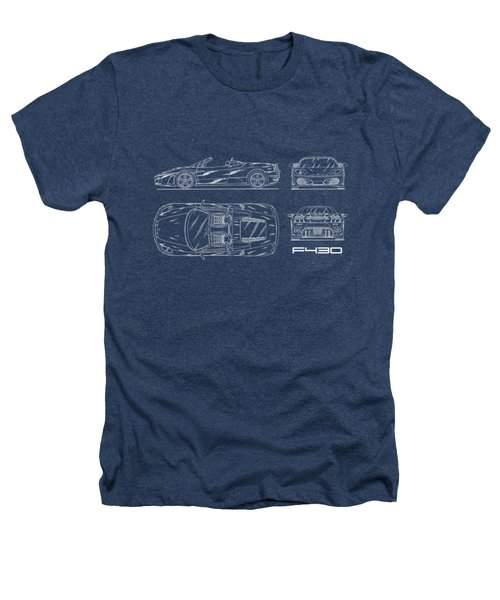 The F430 Blueprint Heathers T-Shirt
