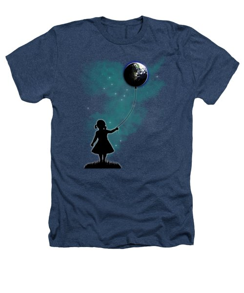 The Girl That Holds The World Heathers T-Shirt by Nicklas Gustafsson