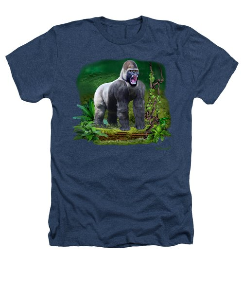 The Guardian Of The Rain Forest Heathers T-Shirt by Glenn Holbrook