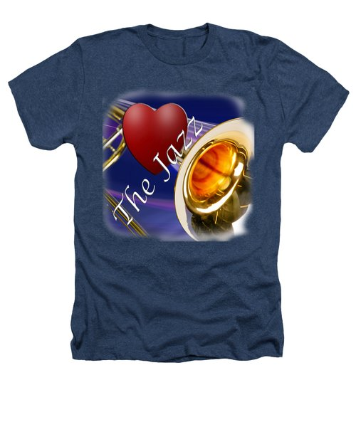 The Trombone Jazz 002 Heathers T-Shirt by M K  Miller