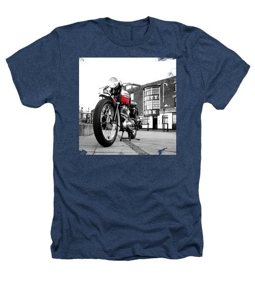 The Trophy Tr5 Motorcycle Heathers T-Shirt