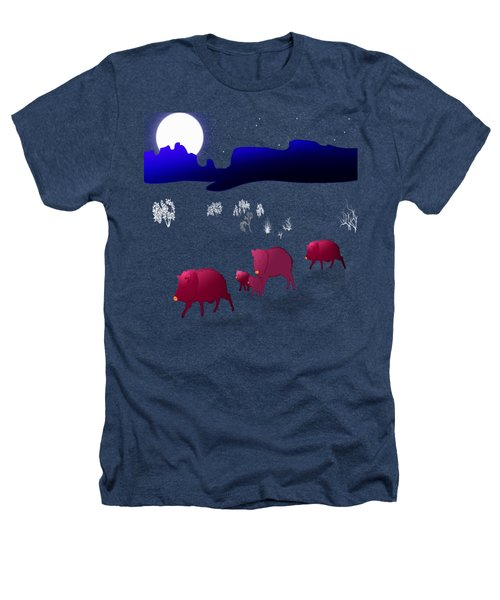 They Walk By Night Heathers T-Shirt by Methune Hively