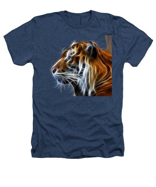 Tiger Fractal Heathers T-Shirt