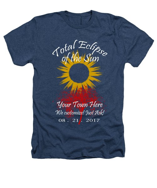 Total Eclipse Art For T Shirts Sun And Tree On Black Heathers T-Shirt