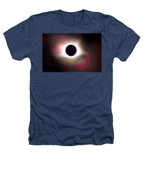 Total Eclipse Of The Sun T Shirt Art With Solar Flares Heathers T-Shirt