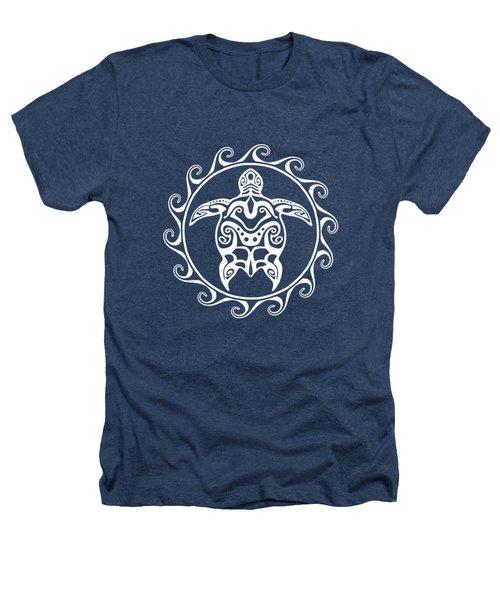 Tribal Maori Sun Turtle Heathers T-Shirt by Chris MacDonald