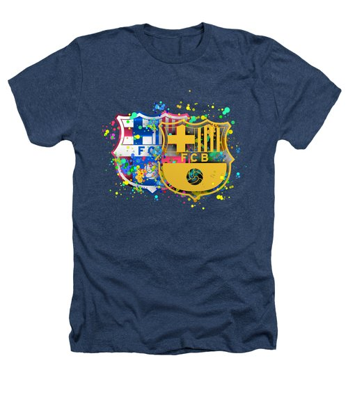 Tribute To Fc Barcelona 8 Heathers T-Shirt by Alberto RuiZ