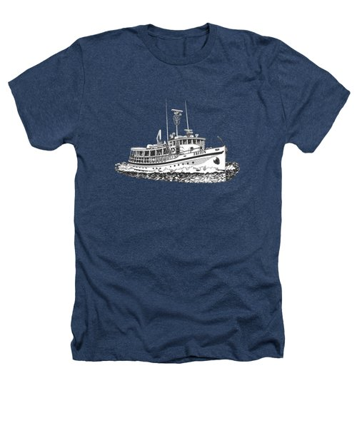 Triton 88 Foot Fantail Yacht Heathers T-Shirt by Jack Pumphrey