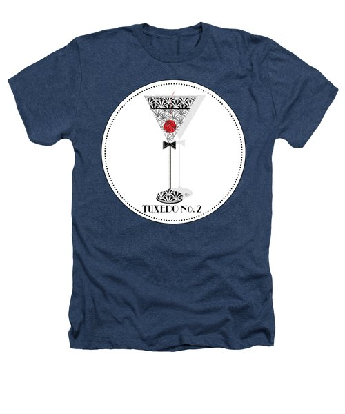 Tuxedo No. 2 Deco Swing Cocktail Heathers T-Shirt by Cecely Bloom