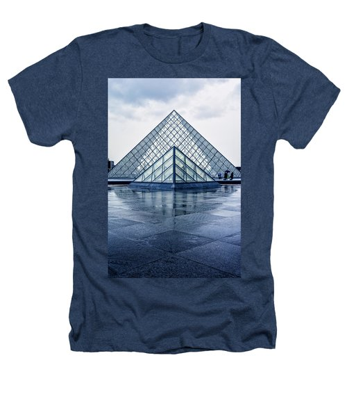 Two Louvre Pyramids Paris Heathers T-Shirt