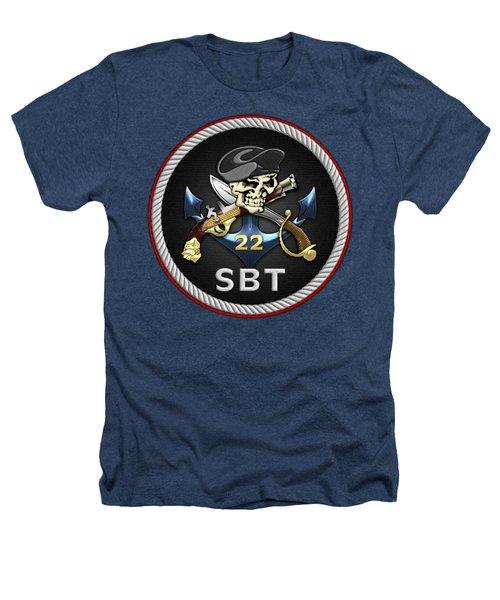 U. S. Navy S W C C - Special Boat Team 22  -  S B T 22  Patch Over Black Velvet Heathers T-Shirt
