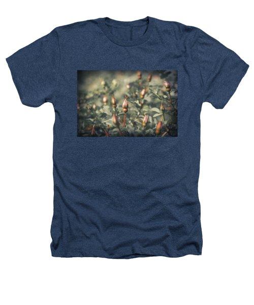 Unblown Rose Bush Heathers T-Shirt by Konstantin Sevostyanov