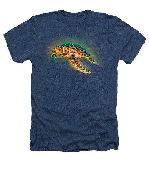 Undersea Turtle Heathers T-Shirt by Debra and Dave Vanderlaan