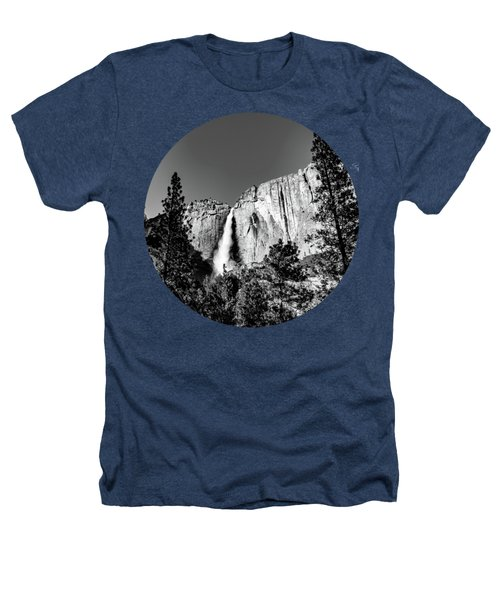Upper Falls, Black And White Heathers T-Shirt by Adam Morsa