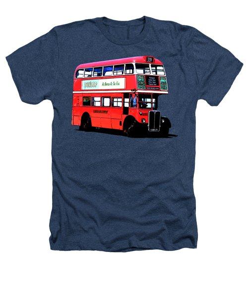 Vintage London Bus Tee Heathers T-Shirt by Edward Fielding