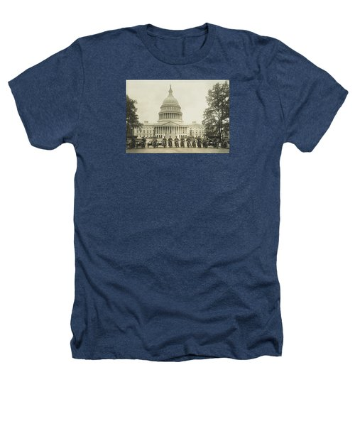 Vintage Motorcycle Police - Washington Dc  Heathers T-Shirt