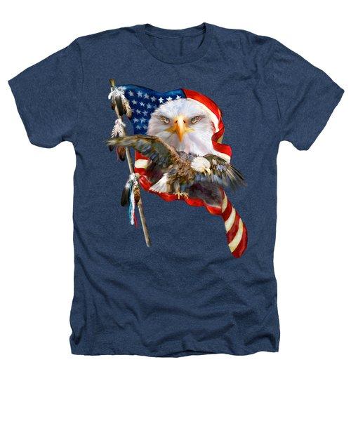 Vision Of Freedom Heathers T-Shirt by Carol Cavalaris