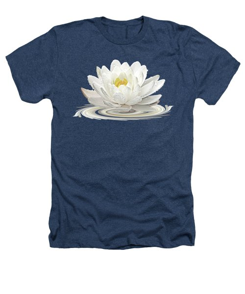 Water Lily Whirl Heathers T-Shirt by Gill Billington