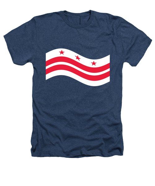 Waving District Of Columbia Flag Heathers T-Shirt