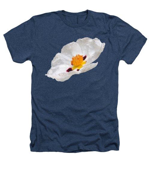 White Cistus Heathers T-Shirt by Gill Billington