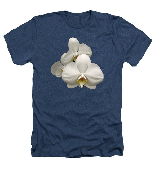 White Orchids Heathers T-Shirt by Rose Santuci-Sofranko