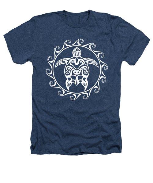 White Tribal Turtle Heathers T-Shirt