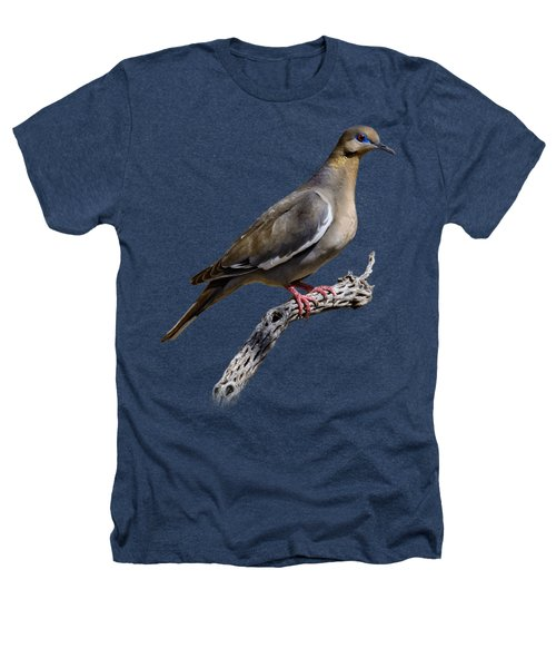 White-winged Dove V53 Heathers T-Shirt by Mark Myhaver