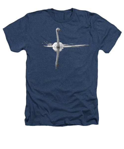 Whooper Swan Bw  Transparent Heathers T-Shirt