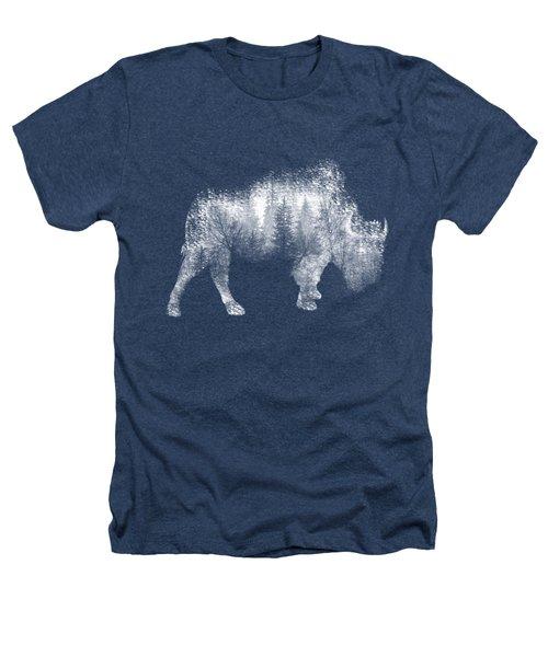 Wild Bison Heathers T-Shirt by Diana Van