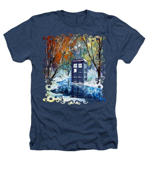 Winter Blue Phone Box Heathers T-Shirt